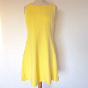 Ann Taylor yellow dress short sleeve size:6 summer